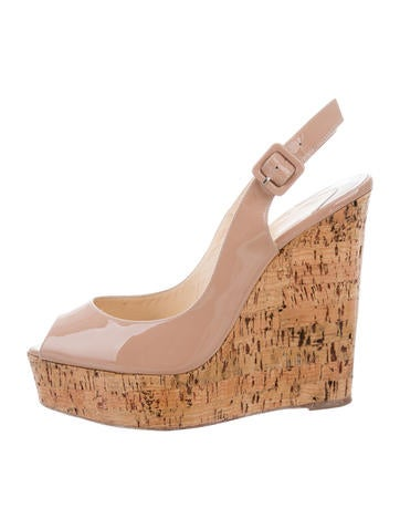 Christian Louboutin Une Plume Slingback Wedges None
