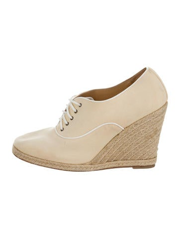 Christian Louboutin Lace-Up Espadrille Wedges None