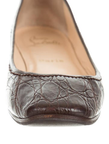 Light Brown Crocodile Shoes For Women