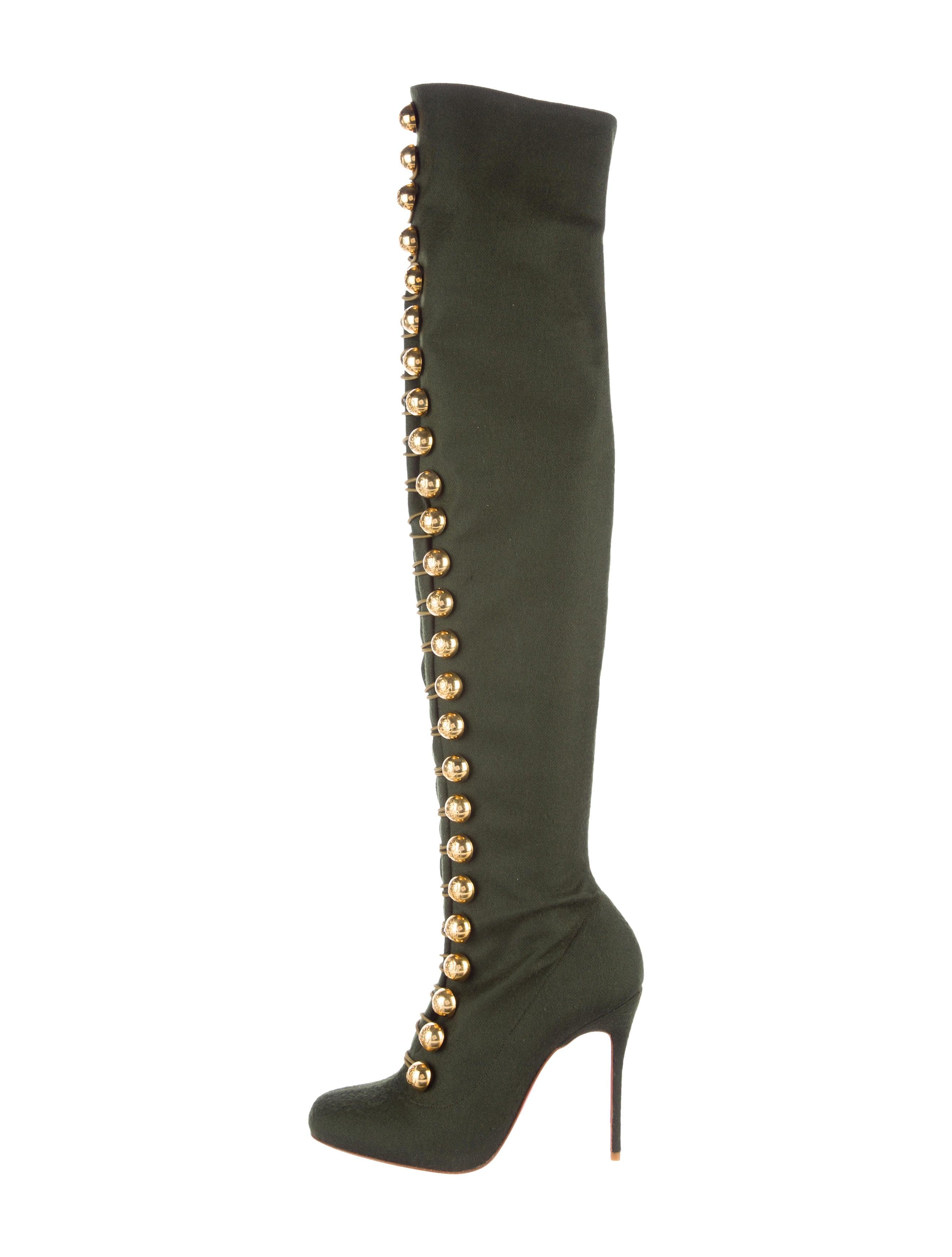 1dfe4de9f289 Christian Louboutin Ronfifi Supra 100 Over-The-Knee Boots - Shoes ...