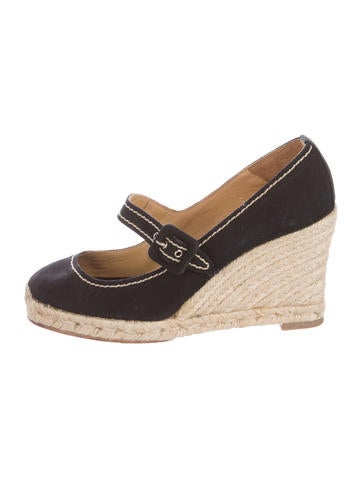 Christian Louboutin Espadrille Wedge Pumps None