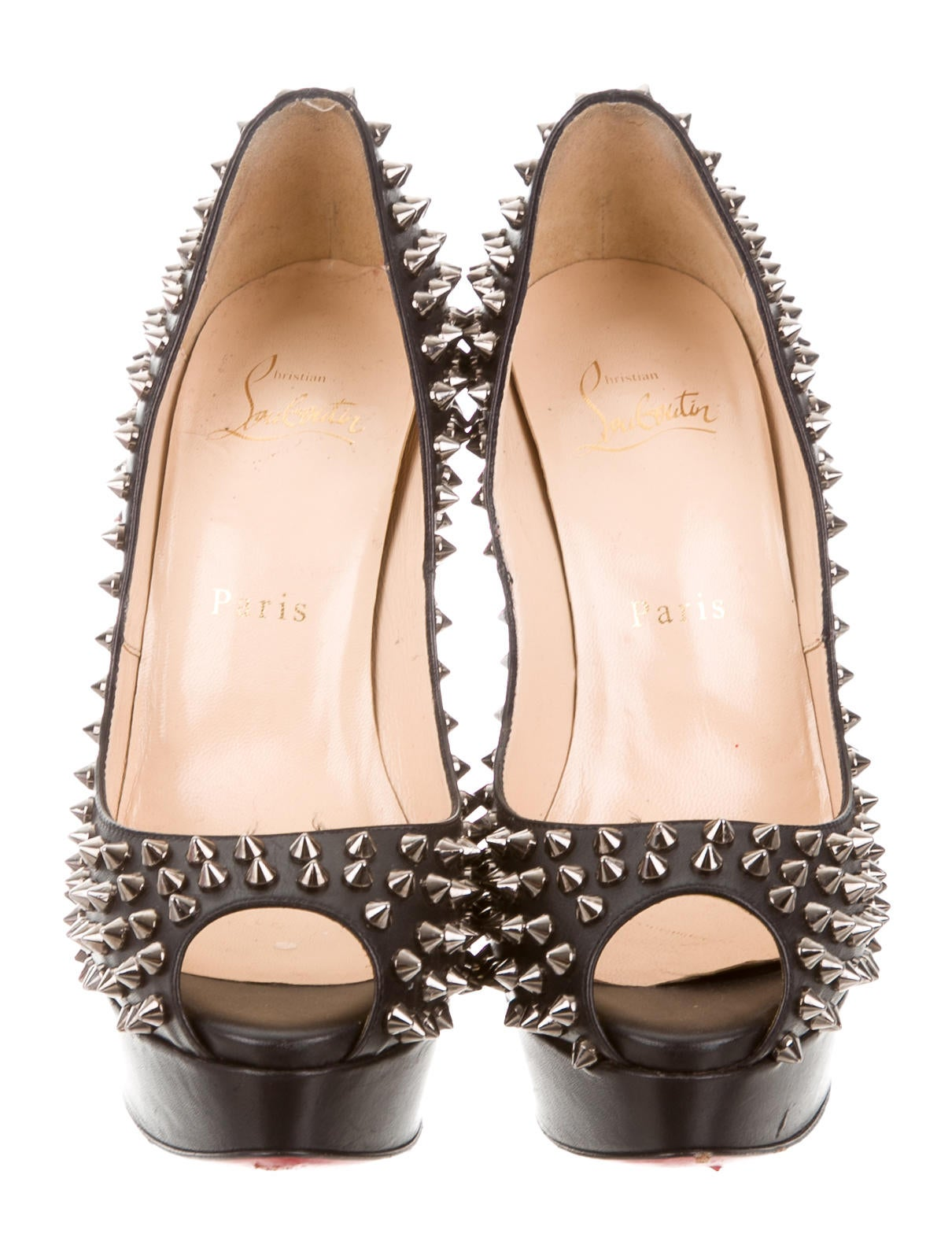 christian louboutin spiked platform pumps shoes