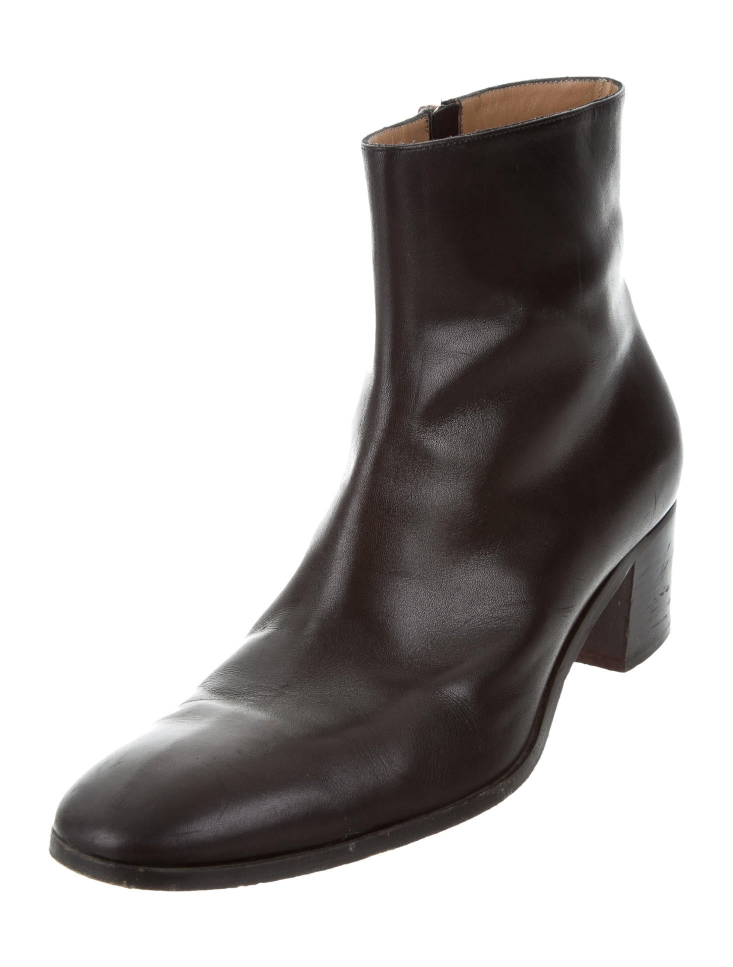 christian louboutin aoussam leather boots shoes