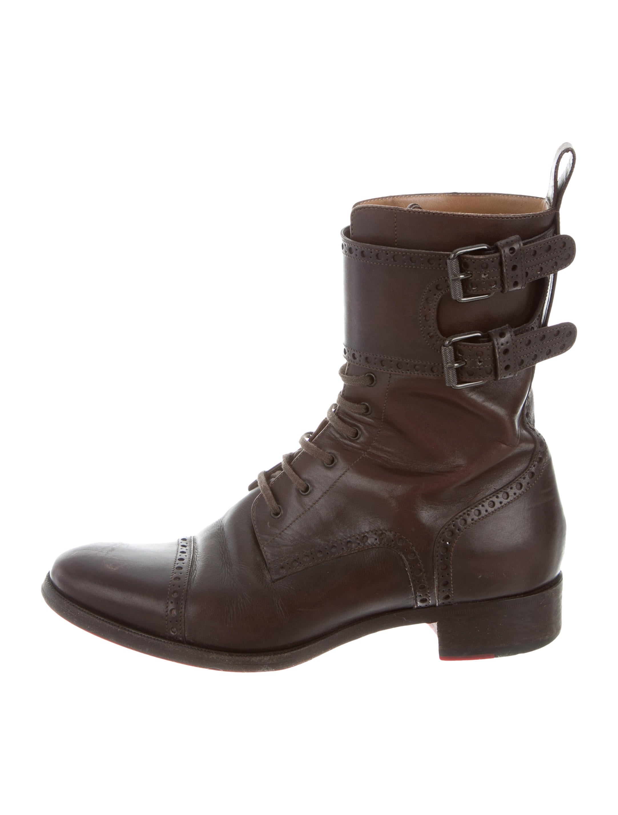 christian louboutin toerless leather boots shoes