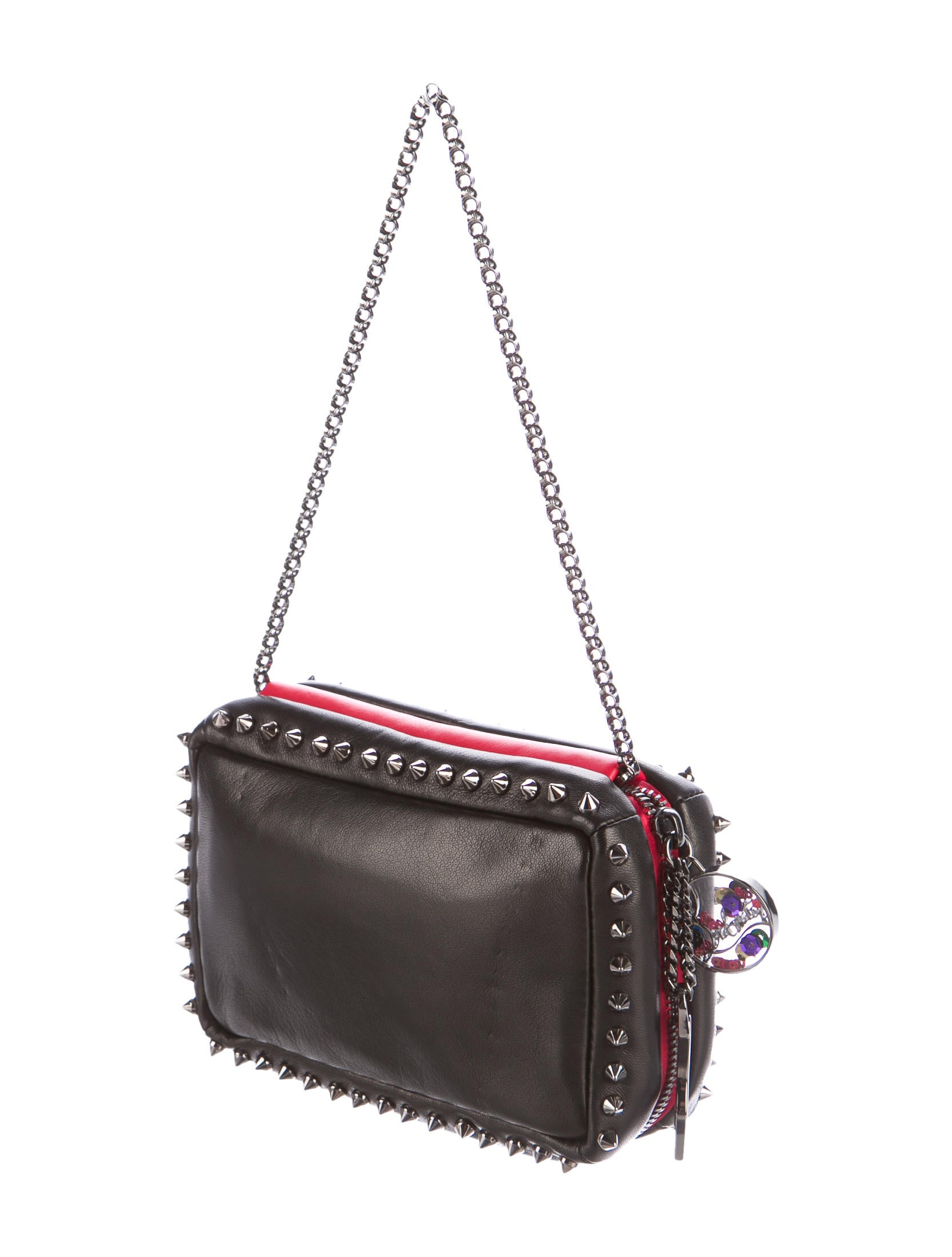 Christian Louboutin Piloutin Studded Leather Clutch ...