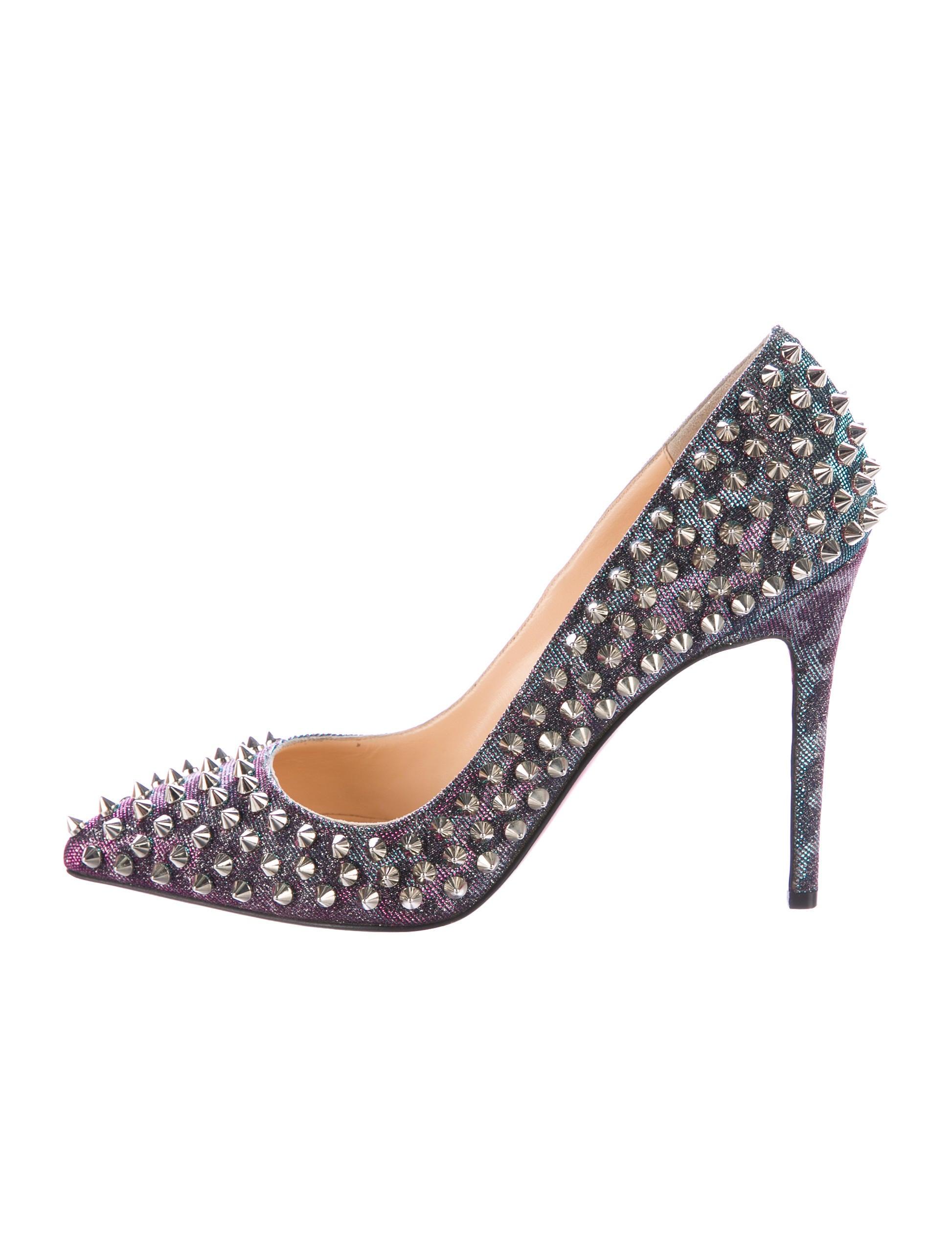 5d465d5aa7c Christian Louboutin Pigalle Glitter Spike Pumps - Shoes - CHT74874 ...