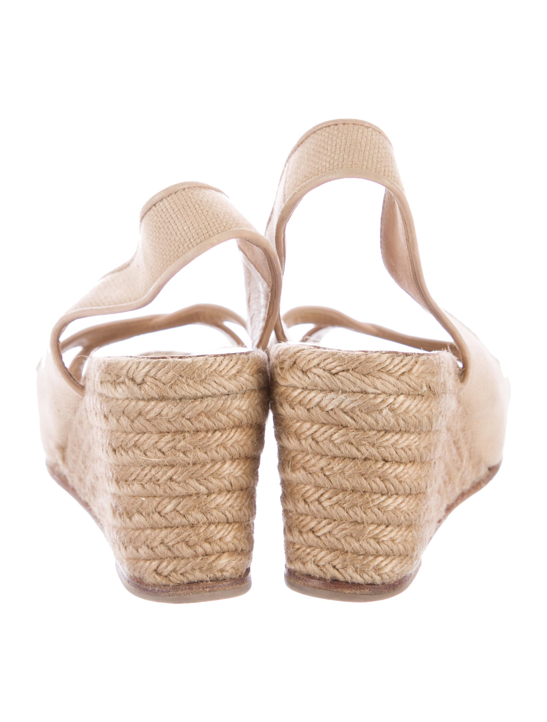 christian louboutin peep toe espadrille wedge sandals