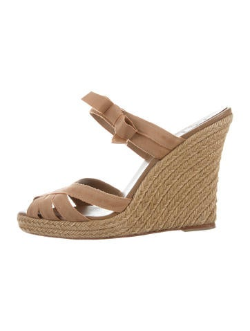 Christian Louboutin Multistrap Espadrille Wedges None
