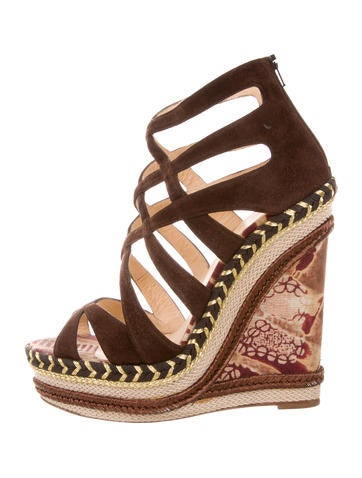 Christian Louboutin Crossover Espadrilles Wedges None