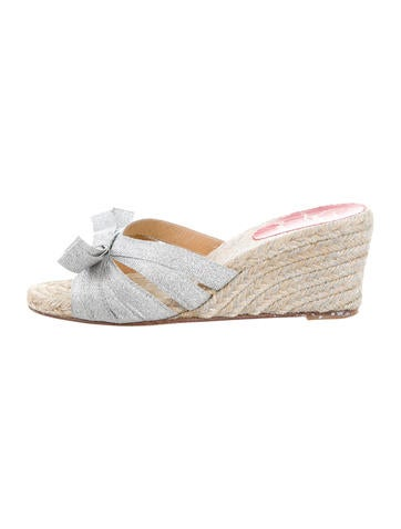 Christian Louboutin Woven Espadrille Wedges None