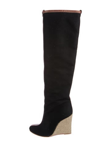 Christian Louboutin Jessy Knee-High Wedge Boots None