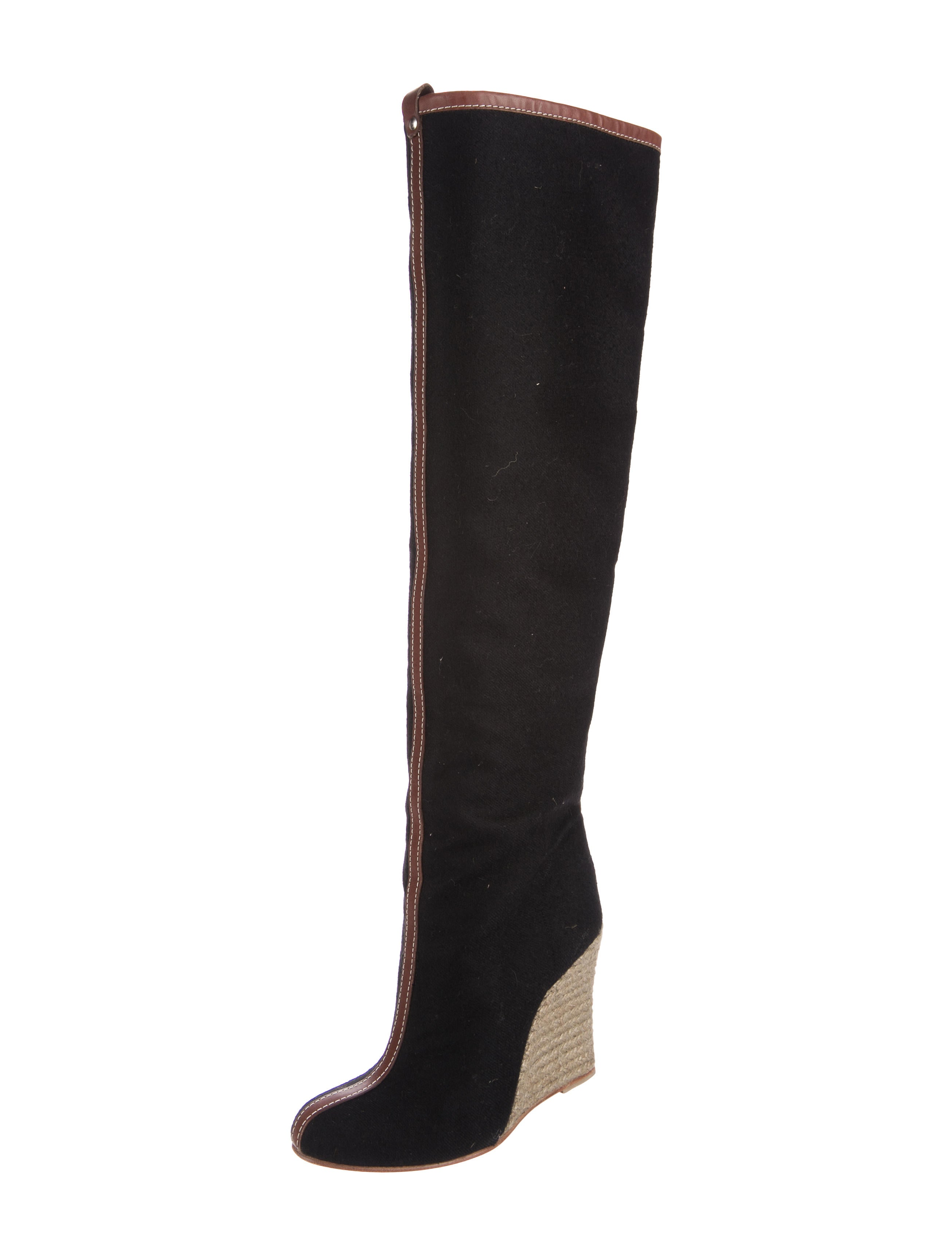 Christian Louboutin Jessy Knee High Wedge Boots Shoes