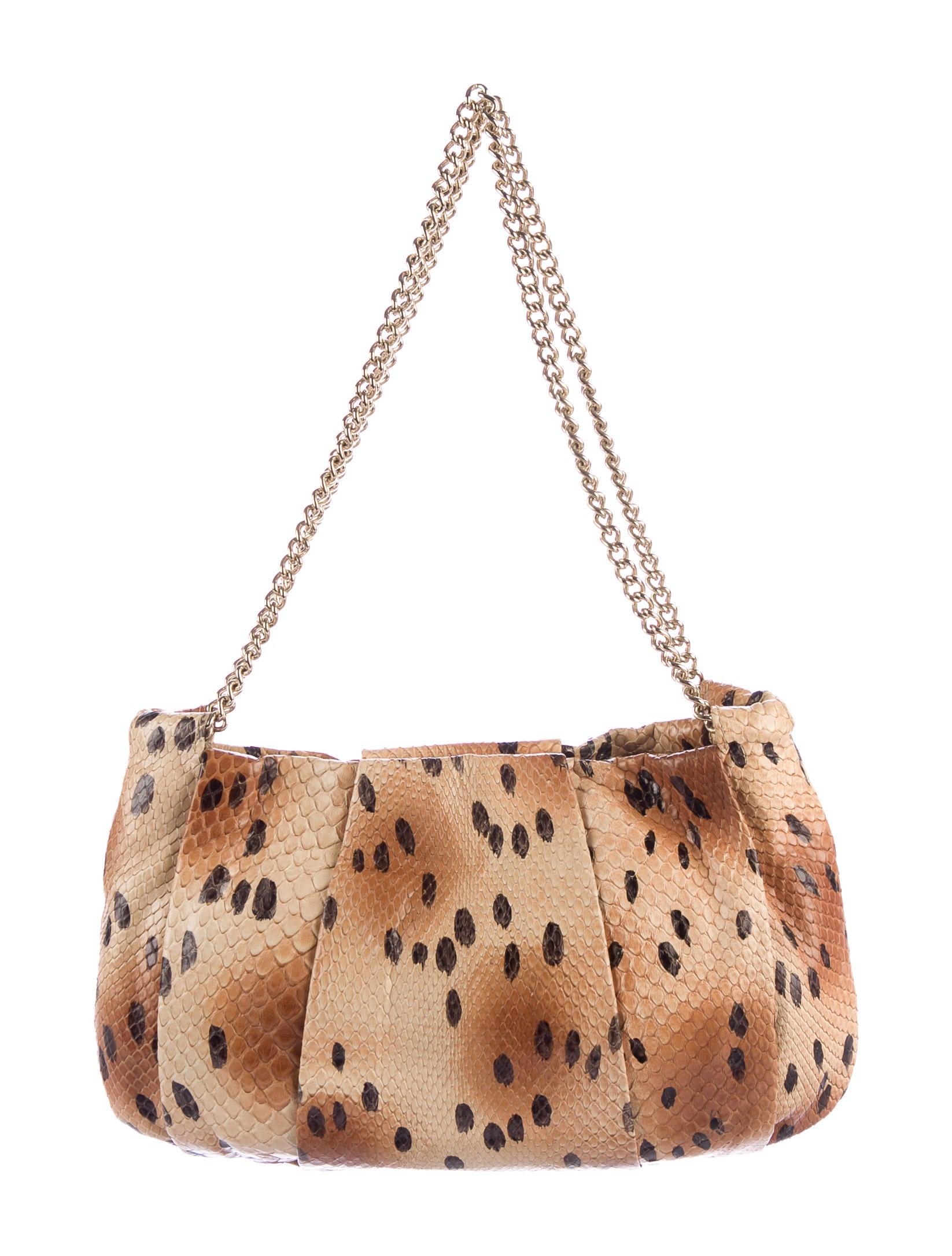 Christian Louboutin Snakeskin Shoulder Bag Handbags