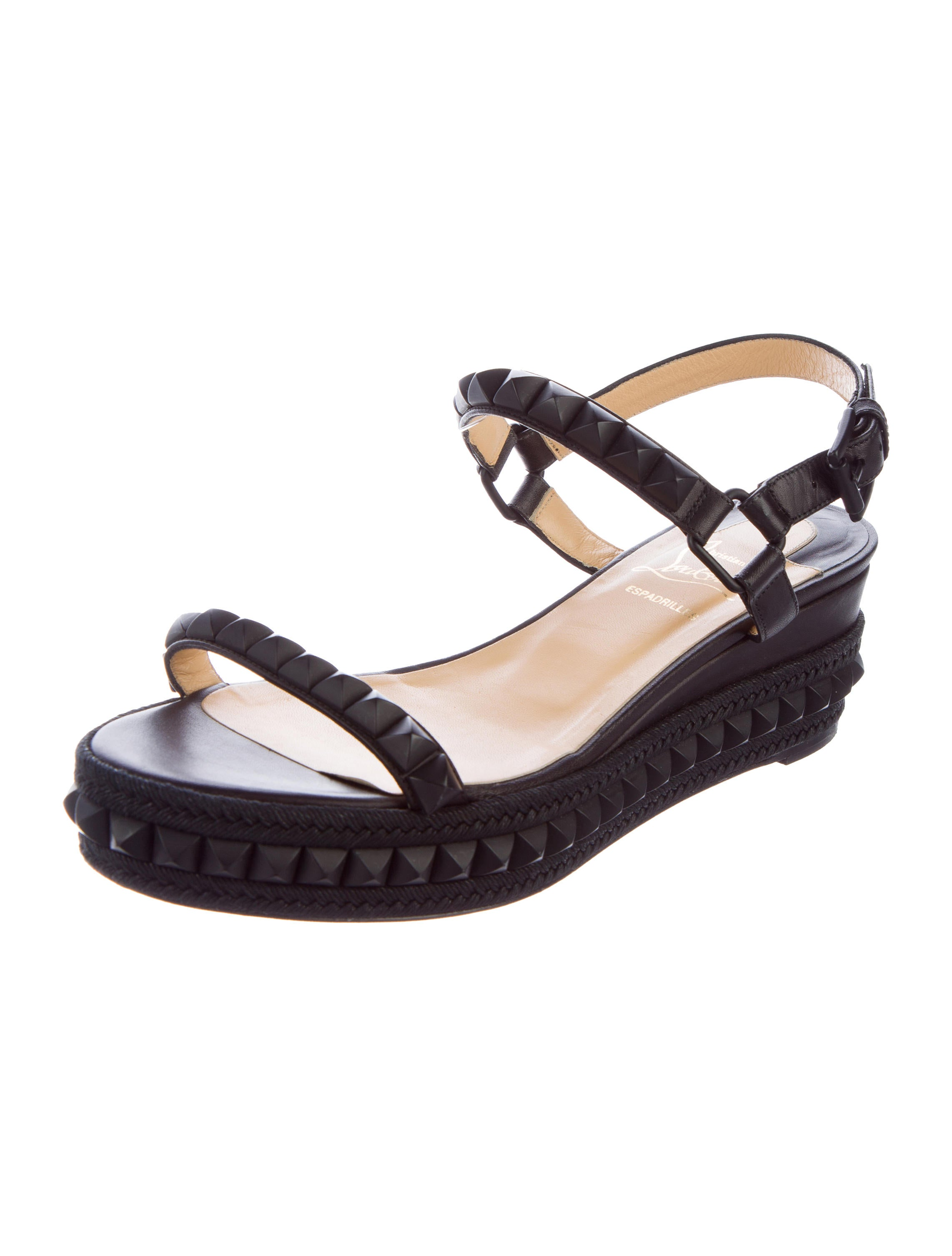 christian louboutin spiked platform sandals shoes