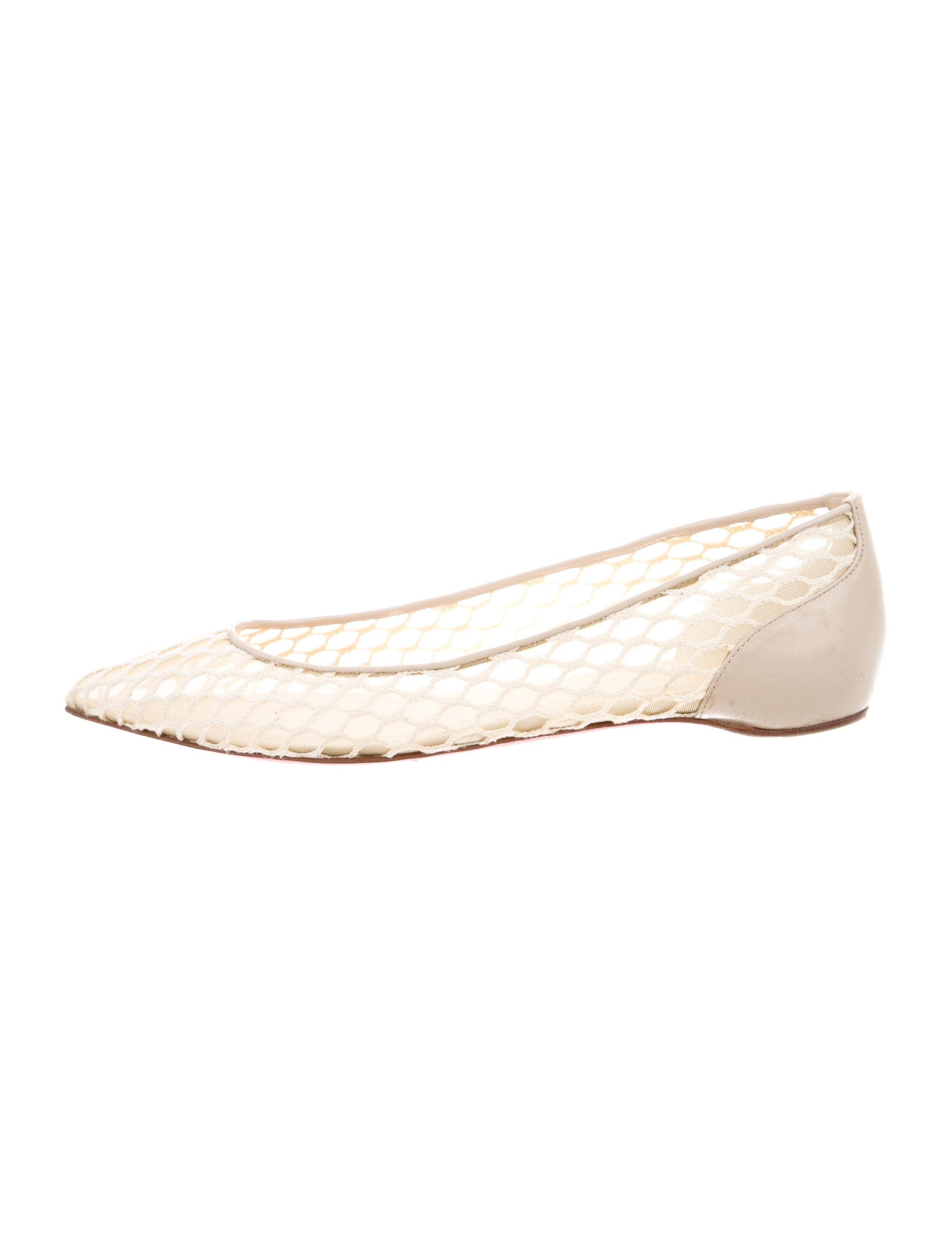 6924658725e Christian Louboutin Pigaresille Mesh Flats - Shoes - CHT77287