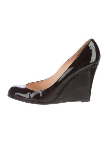 Christian Louboutin Patent Leather Wedge Pumps None
