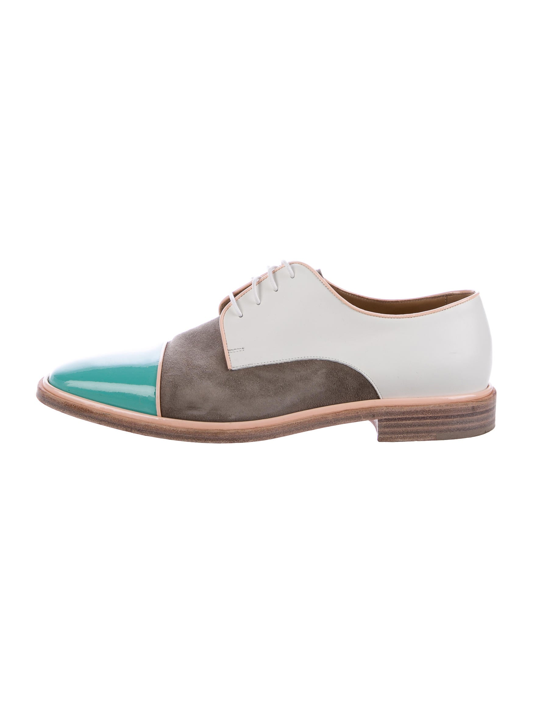 christian louboutin patent leather derby shoes shoes