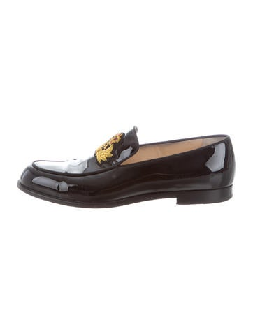 Christian Louboutin Patent leather Embroidered Loafers None