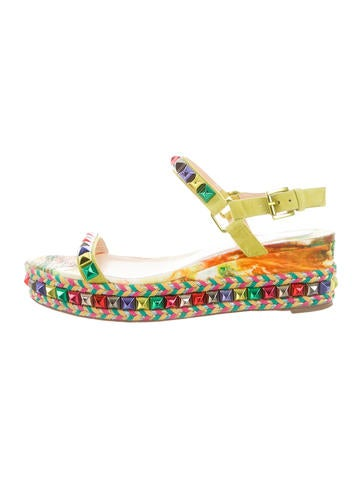 Christian Louboutin Cataclou Espadrille Wedges None