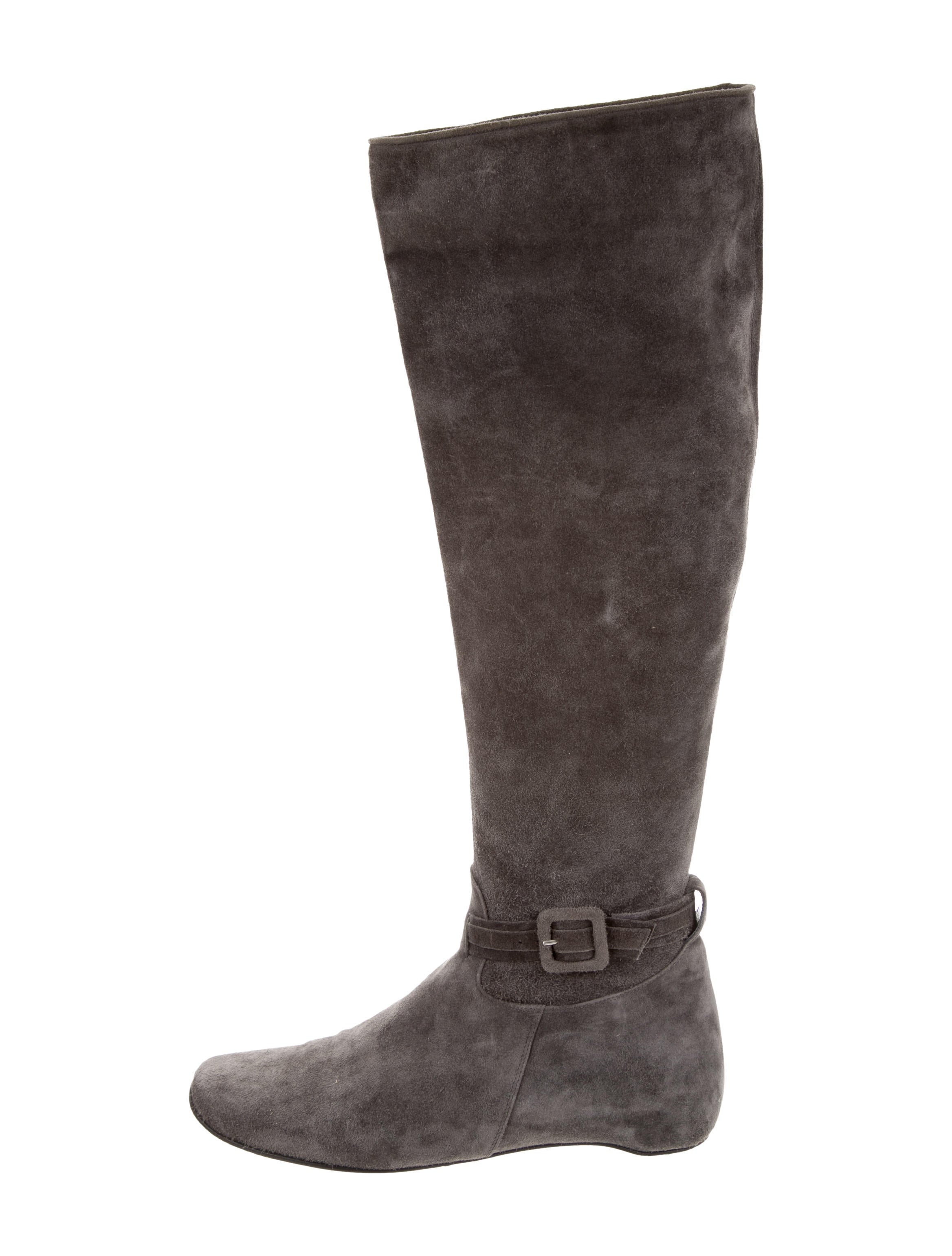 christian louboutin suede the knee boots shoes