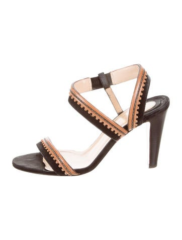 Christian Louboutin Scalloped Multistrap Sandals None