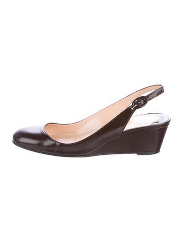 Christian Louboutin Leather Slingback Pumps None