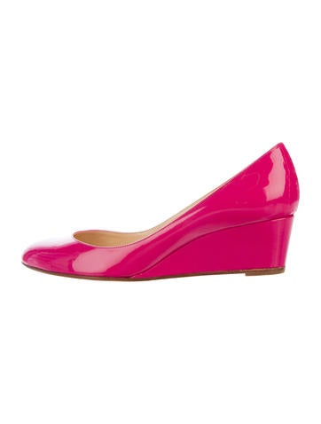 Christian Louboutin Round-Toe Wedge Pumps None