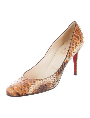 Christian Louboutin Python Round-Toe Pumps really online free shipping factory outlet cheap sale hot sale get authentic cheap online sale largest supplier 9YnW8M