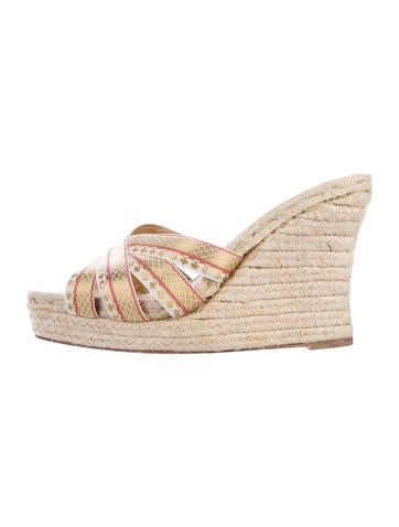 Christian Louboutin Espadrille Slide Wedges None