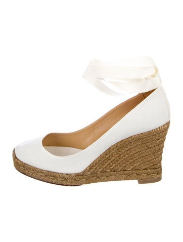 Christian Louboutin Canvas Wedged Espadrilles None