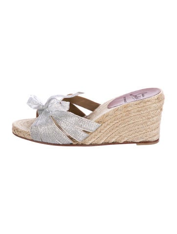 Christian Louboutin Bow-Accented Wedges None