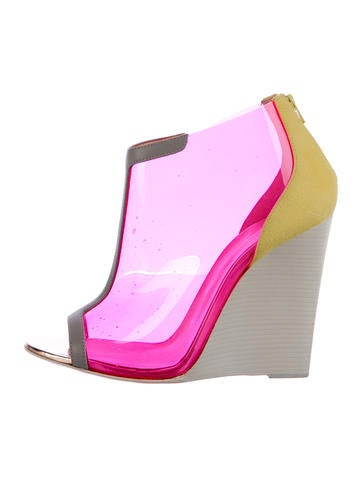 Christian Louboutin PVC Wedge Booties None