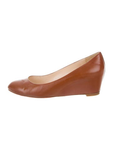Christian Louboutin Leather Round-To Wedges None