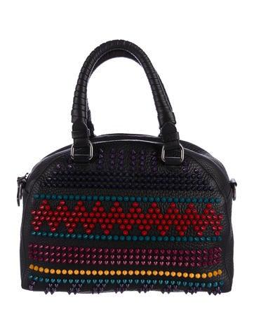 Christian Louboutin Spike Studded Bowler Bag None