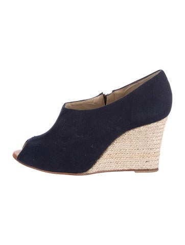 Christian Louboutin Canvas Wedge Booties None