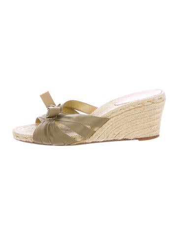 Christian Louboutin Tiburon Espadrille Wedge Sandals None