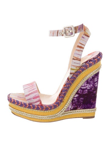 Christian Louboutin Duplice Espadrille Wedges None
