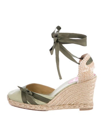 Christian Louboutin Bow-Embellished Espadrille Wedges None
