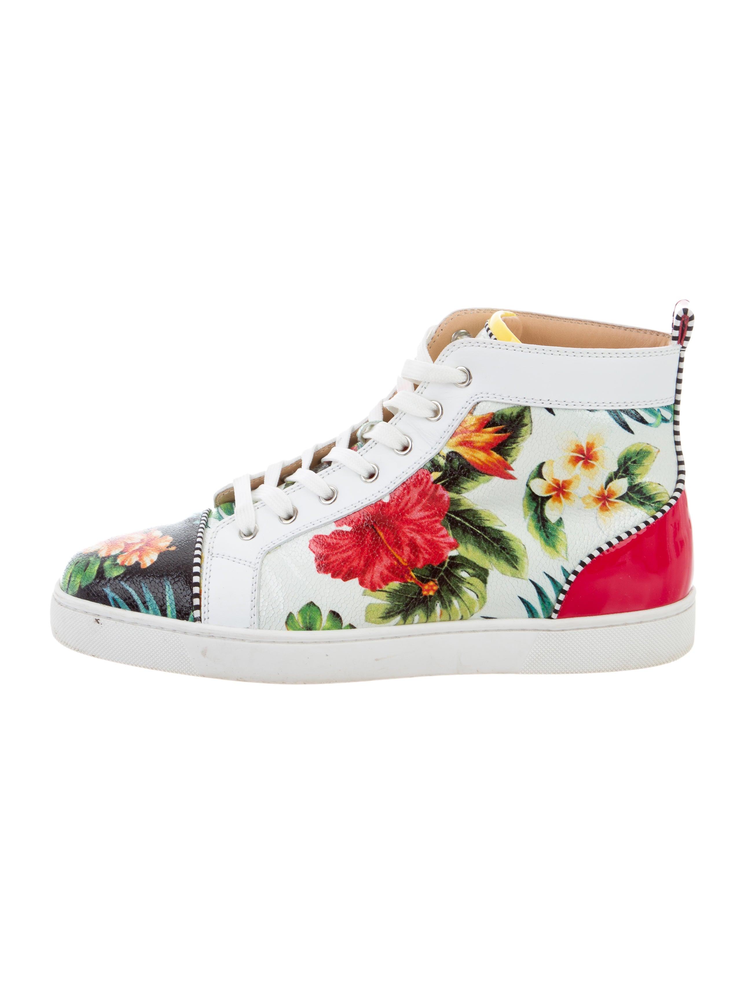 christian louboutin seava hawaii high top sneakers shoes rh therealreal com