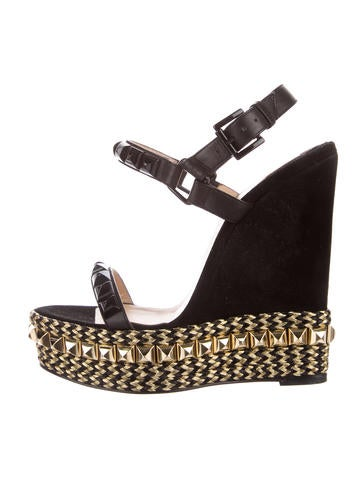 Christian Louboutin Cataclou Studded Wedges None