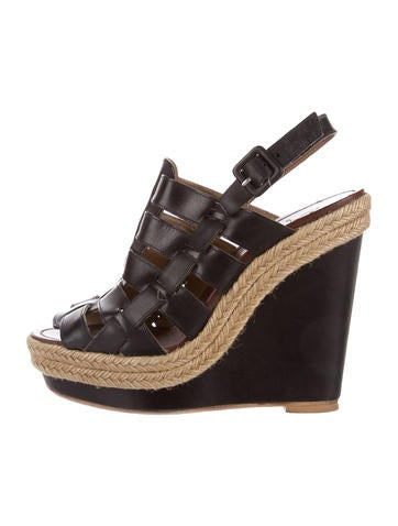 Christian Louboutin Caged Espadrille Wedges None