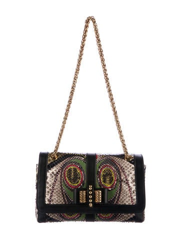 Christian Louboutin Small Python Sweet Charity Flap Bag None