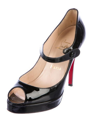 louboutin mary jane platform pumps