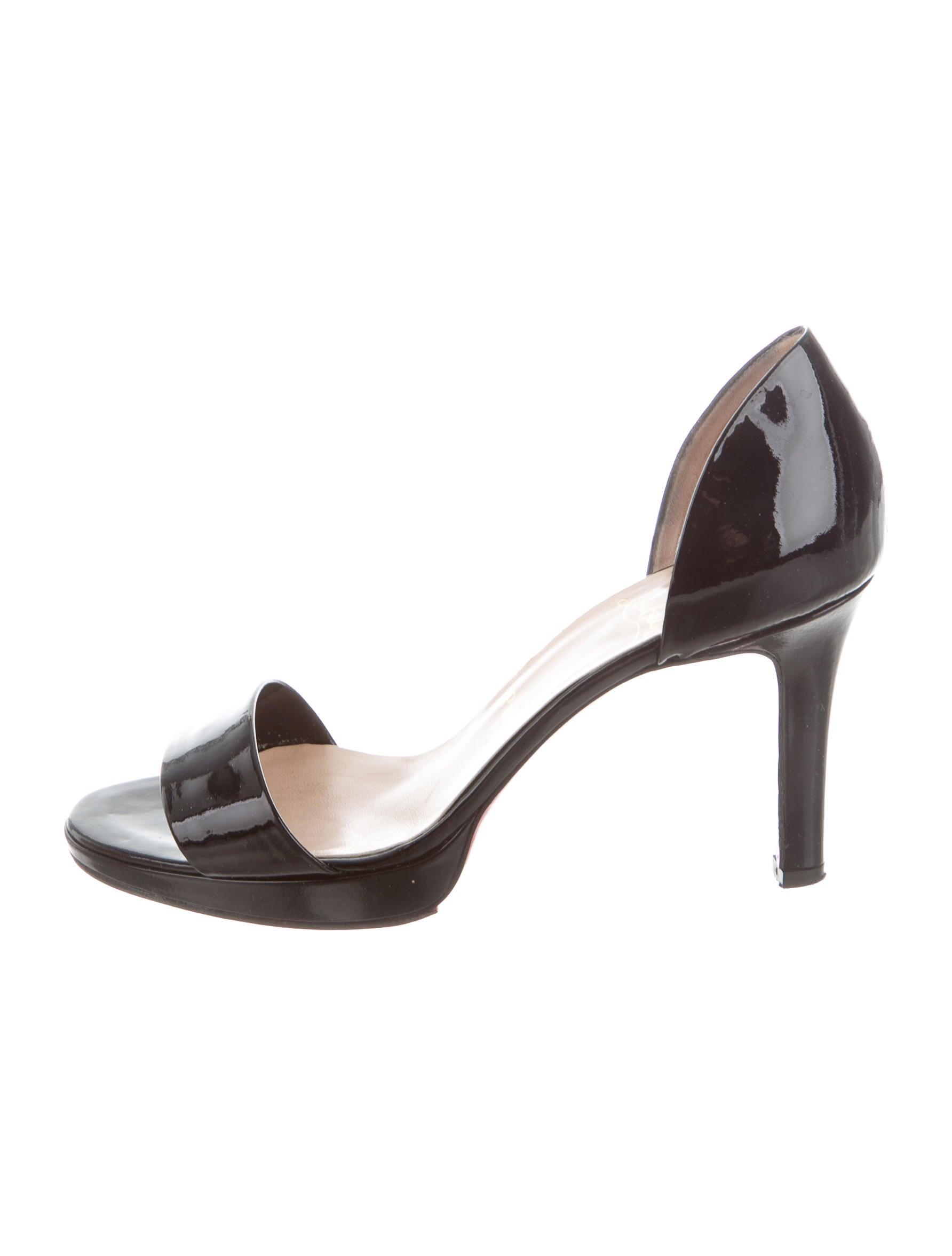 Christian Louboutin Patent Minipass 90 Sandals pick a best cheap online qomf3t