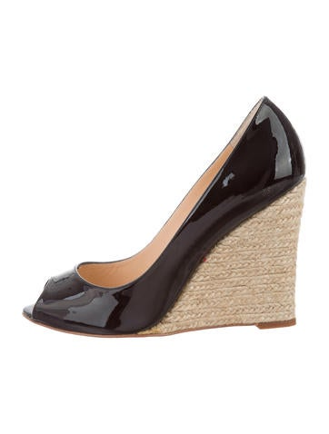 Christian Louboutin Patent Leather Wedges None