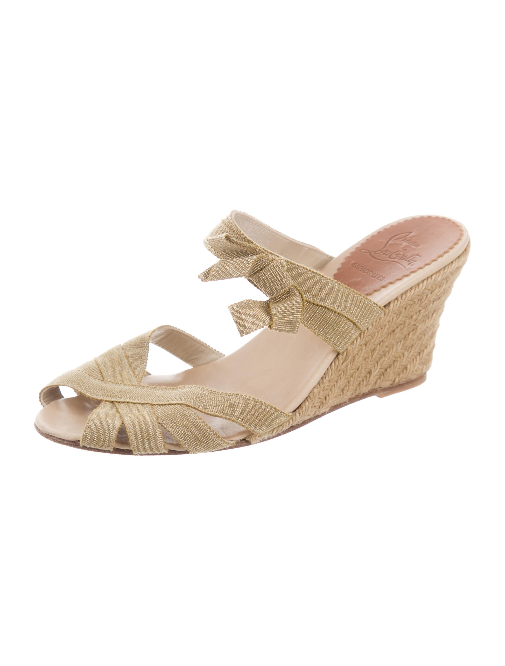 sale low shipping fee Christian Louboutin Bow-Embellished Espadrille Wedges clearance amazing price cheap sale official clearance under $60 hsk8TsYLE