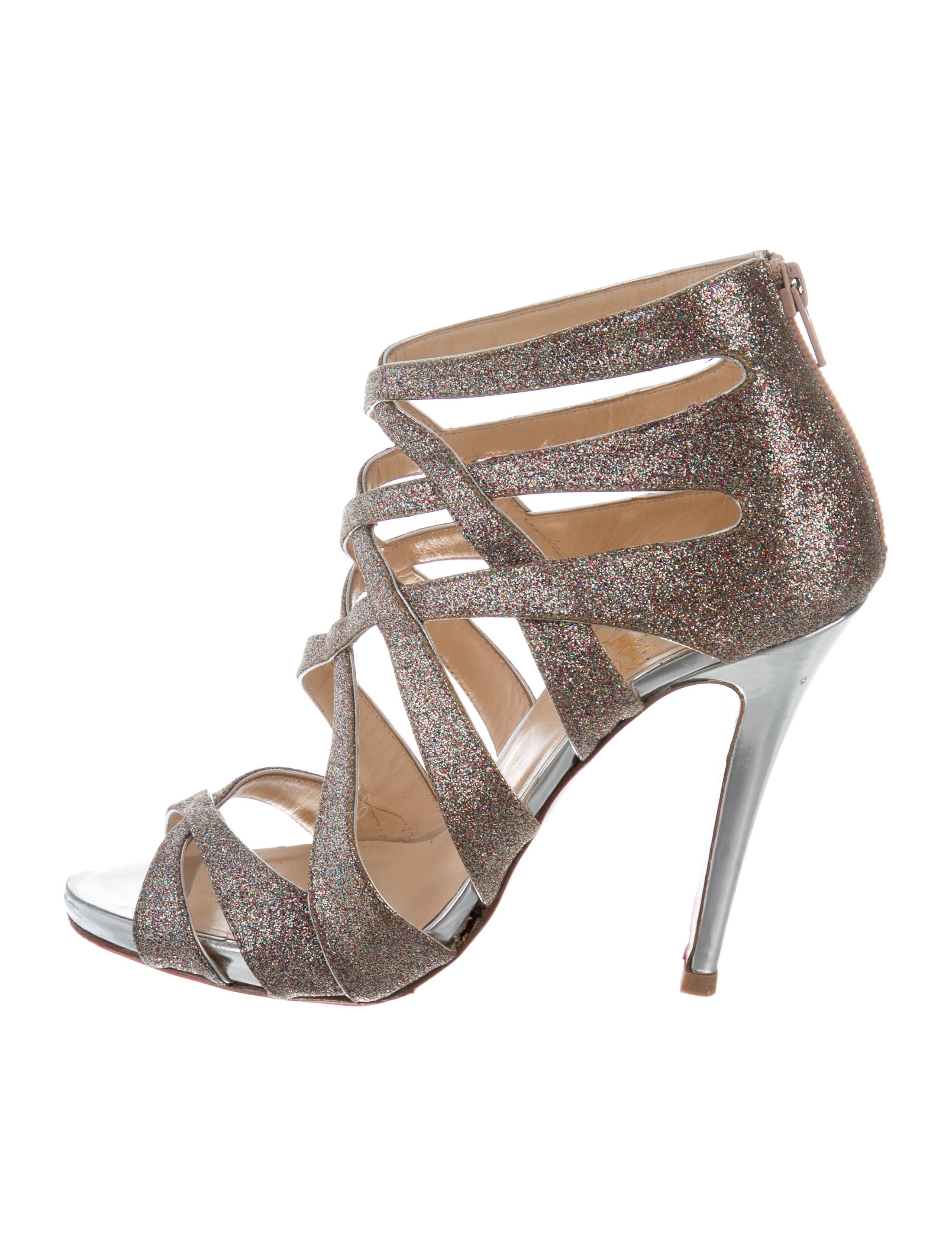 37076531d1f ... best price christian louboutin glitter caged sandals pictures cheap  price new styles cheap price choice sale