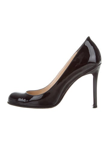 Christian Louboutin Patent Leather Round-Toe Pumps None