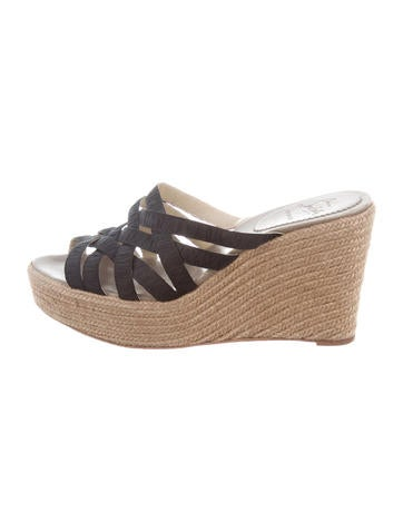 Christian Louboutin Woven Wedge Sandals None