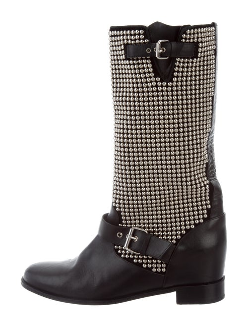 meet 1e515 52cd1 Christian Louboutin Studded Mid-Calf Boots - Shoes ...